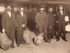 Here are some surviving Titanic crew members at Terminus Station on April 28th after travelling back from New York.