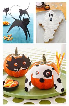 Masked pumpkins, black cats, ghost cakes and more spooky Halloween party ideas and crafts from our friends at @FamilyFun magazine! http://www.parents.com/holiday/halloween/party/kids-halloween-party-ideas/?socsrc=pmmpin091912cHalloweenTricks
