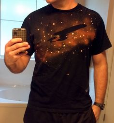 DIY star trek shirt http://www.reddit.com/r/pics/comments/yuv8g/a_pretty_cool_star_trek_shirt_i_made_with_bleach/