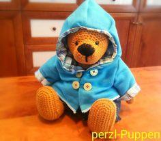 Gehäkeltes XL Teddybär/Crochet  XLTeddy Carl von Perzl-Puppen auf DaWanda.com