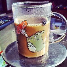 "@honeyhargao's photo: ""Sunday morning coffee with Totoro chan ☕️☕️ #goodmorning #goodmorninghk #goodmorningsunday #totoro #morningcoffee #coffee #lastdayinhk #hkdrink #eathk #totoroglass"""