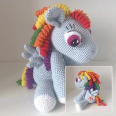 My little pony - Rainbow Dash. #hækle #hæklet #hækling #crochet #amigurumi #krammedyr #mylittlepony #rainbowdash #barnebarn