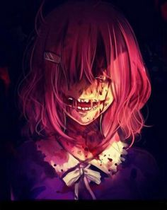 when i actually try to draw Yandere Girl, Yandere Anime, Creepy Pictures, Dark Pictures, Arte Horror, Horror Art, Manga Art, Anime Art, Candy Gore