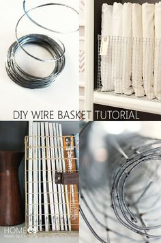 Diy Crafts Ideas Forget buying expensive wire baskets…learn step-by-step how to make your own custom styled wire baskets from hardware cloth! Do It Yourself Furniture, Diy Furniture, Diy Décoration, Easy Diy, Simple Diy, Metal Baskets, Decorative Baskets, Wire Crafts, String Crafts