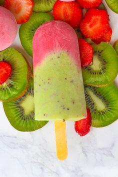 Strawberry & Kiwi Popsicles