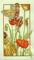 Cross stitch - fairies: Poppy fairy - Margaret Tarrant (free pattern with chart)