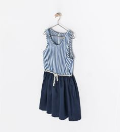 ZARA - KIDS - COMBINED DRESS WITH STRIPES