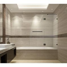 Aston Soleil 48 in. x 58 in. Completely Frameless Hinged Tub Door in Oil Rubbed Bronze at The Home Depot - Mobile Bathtub Doors, Frameless Shower Doors, Shower Remodel, Bath Remodel, Simple Bathroom, Modern Bathroom, Master Bathroom, Bathroom Sets, Peach Bathroom