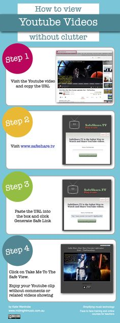 """Viewing Youtube Clips Without Comments or Related Videos  The Sharesafe.tv website is a simple one: copy and paste a Youtube URL into a box, press a button and voila - a Youtube video surrounded by a clean, plain grey background.  The website allows you to view videos without all the associated """"noise"""" of"""