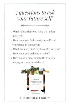 It can be POWERFUL to learn to access your future self on a regular basis through journaling. You'll be amazed by what you learn! Click through for the other 5 questions and a free guide with even more tools on becoming the ideal future you.  #futureself #journalingprompts #journalingquestions #writingprompts