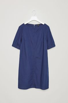 The little blue dress ... COS image 4 of Dress with elastic sleeves in Blue