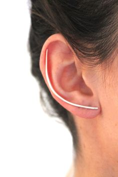 Visibly Interesting: Handcrafted simple ear cuff. Available in solid Sterling Silver or 14K Gold fill.