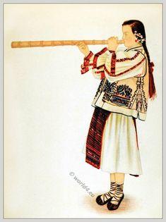 "Romanian Peasants costumes from Turda ""The Stone Land"", Transylvania. Folk Embroidery, Learn Embroidery, Folk Costume, Costumes, Hungary History, Romanian Women, Folk Fashion, Women's Fashion, Medieval Clothing"