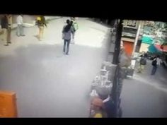 Monkey dropkicks young man after the guy flashes the finger (ORIGINAL FOOTAGE) - YouTube
