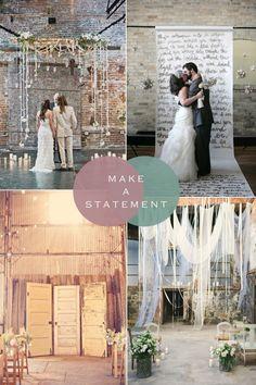 Make a statement | Urban Industrial Wedding Styling Ideas