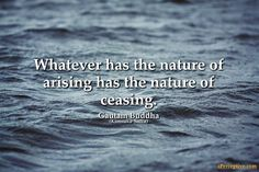 Gautam Buddha Quote: Whatever has the nature of arising has...