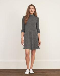 Womens Mock Neck Swing Dress | Womens Dresses & Rompers | eu.Abercrombie.com