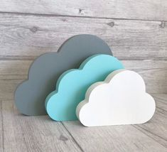 Excited to share this item from my #etsy shop: Freestanding Cloud Set, Shelf Ornaments, Nursery Decor, Mint & Grey Nursery Accessories, Baby Shower Gift, New Baby Gift Childrens Room Decor, Woodland Nursery Decor, Baby Room Decor, Mint Baby Shower, Baby Shower Gifts, Cloud Decoration, Indoor Wreath, Small Nurseries, Personalized Gifts For Kids