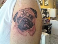 I will have my pug on my foot.