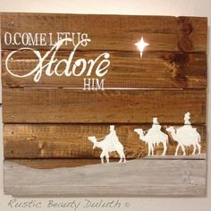 christmas carol, christian religious holiday rustic chic wood art is part of Christmas wooden signs - wood Decoration Christmas Pallet Signs Christmas Wooden Sign; Christmas Wooden Signs, Pallet Christmas, Holiday Signs, Christmas Nativity, Christmas Carol, Country Christmas, Christmas Projects, Winter Christmas, Holiday Crafts