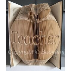 Apple For The Teacher - Book Folding Pattern Book Folding Patterns / Templates and Book Folding Software on Bookami®