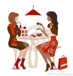 Девушки на кафе