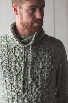 Sunchokes Pullover pattern by Moira Engel Hoodie Pattern, Mens Jumpers, Funnel Neck, Cozy Sweaters, Cable Knit, Knitwear, Knitting Patterns, Men Sweater, Mens Fashion