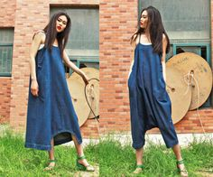 cotton maxi dress pantsa pants a dress blue linen dress by dongli