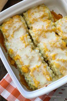 Butternut Squash and Spinach Lasagna Rolls |(Skinnytaste)