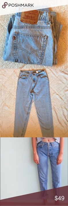 "High Waisted Vintage Levi's Light/medium wash high waisted denim. Super cute and comfy ""mom"" jeans. Urban Outfitters Jeans"