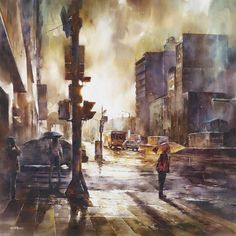 Street Watercolor Paintings by Lin Ching-Che | Cuded