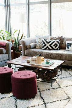 Wohnideen Wohnzimmer Einrichten Gestalten Hocker