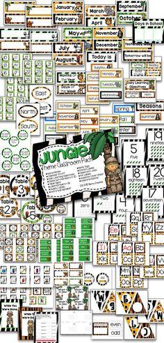 Theme Classroom Pack Jungle Theme Classroom Pack pages of jungle themed items for any classroom!Jungle Theme Classroom Pack pages of jungle themed items for any classroom! Jungle Theme Rooms, Jungle Theme Classroom, Classroom Layout, Classroom Decor Themes, Classroom Organisation, Classroom Design, Classroom Displays, Classroom Management, Safari Theme