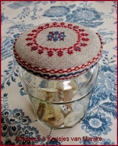 Deksel voor Jampot gevonden op Steekjes en Kruisjes