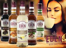 Sunny Sky Products Inc. introduces Eden Gourmet Syrups & Shakers.