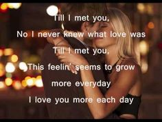 It's my favorite song of Kuh Ledesma, 'Till I Met You. Till I met you, I never knew what love was Till I met you, This feelin' seems to grow more everyday I . Love You More, What Is Love, My Love, Crush Quotes, Love Quotes, Till I Met You, Music Do, Romance And Love, Fall For You