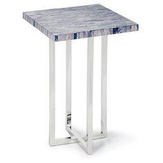 Mosaic Bone Side Table, Gray