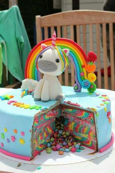 ▷ Ideen für einzigartige Einhorn Kuchen und Torten - Todo Lo Que Necesitas Saber Para La Fiesta Unicorn Birthday Parties, 4th Birthday, Cake Birthday, Birthday Ideas, Unicorn Foods, Unicorn Cakes, Unicorn Head Cake, Toy Unicorn, Unicorn Cake Topper