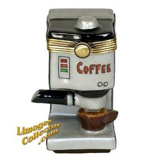 Gourmet Coffee Maker Limoges Box by Beauchamp | LimogesCollector.com