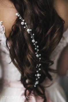 Wedding Pearl Hair Vine 045-1.5 meter Bridal Pearl Hair
