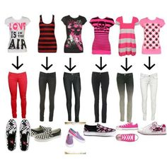 cute emo outfits | simple huh? pengen punya baju + clana + spatu kek gini sg uakeh!