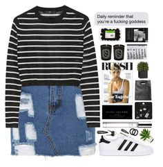 """""""Untitled #1988"""" by tacoxcat ❤ liked on Polyvore featuring TIBI, Marc Jacobs, Crate and Barrel, Topshop, Monki, adidas Originals, Calvin Klein, Diptyque, John Lewis and Forever 21"""