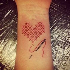 Amazing cross stitch tattoos
