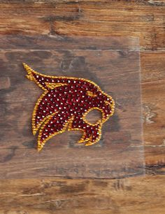 Hey Bobcats! Put this bling decal on your vehicle and no one will miss your pride for Texas State!!
