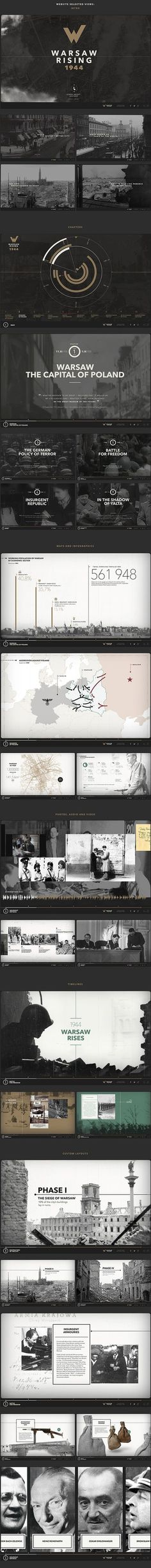Love this simple design and dim use of colors. Warsaw Rising on Behance