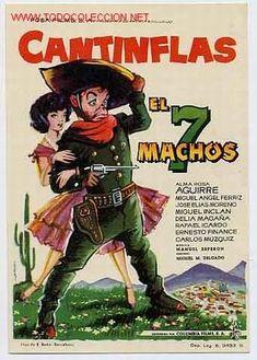 CANTINFLAS   -    EL 7 MACHOS (Cine - Folletos de Mano - Comedia)