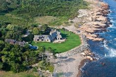 """With Secret Stairs and Copper Walls, 'Killybracken' Asks $11.5M  Location: Gloucester, Mass. Price: $11,500,000 The Skinny: Though its name may put the reader in mind of some sort of bloodthirsty mythological sea creature (""""Release the Killybracken!), this seaside estate is stolid Brahmin blueblood to its core, having been built as a luxury retreat from Boston's hustle and bustle in 1927. Located on the craggy shore of Massachusetts' Eastern Point peninsula,"""