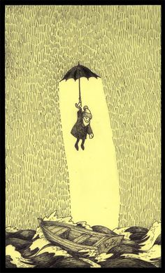 John Kenn...drawings on post-its. Incredible