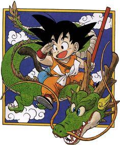 Dragon Ball - kid Goku and Shenlong - Manga by on DeviantArt Dragon Ball Gt, Akira, San Gohan, Manga Art, Manga Anime, Dragons, Kid Goku, Cartoon, Disney