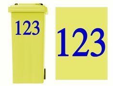 SKULL Wheelie Bin Sticker /& Numbers *Colours//Sizes*